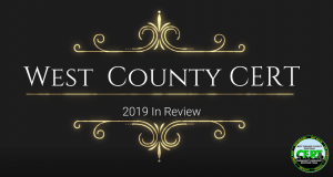 2019 West Orange County CERT - A Year in Review 2019